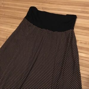 *AS IS* Striped Maxi Skirt